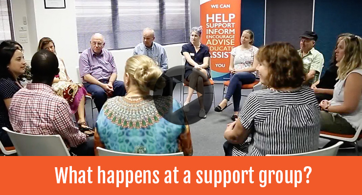 What happens at a support group?
